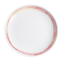 Kahla Five Senses Dining Plate 10-3/4 Inches, Whirl Red Yellow Color, 1 Piece