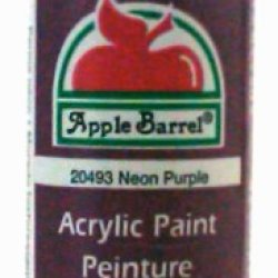 Plaid 20493 Apple Barrel 2-Ounce Acrylic Paint, Neon Purple