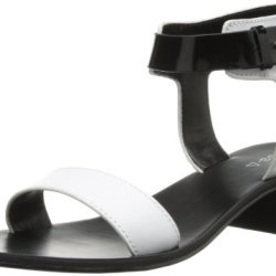Kelsi Dagger Women'S Always Dress Sandal,White/Black,8 M Us