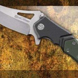 Lansky Sharpeners Responder Quick Action 3.5In. 440C Stainless Blade Knife, Black/Green Lkn111