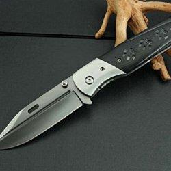 Rescue Black Handle With Dog Footprints Pocket Folding Knife Mkd2-9.64''