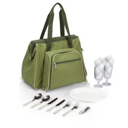 Picnic Time Toluca Insulated Cooler Picnic Tote, Green