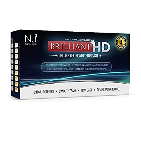 NuNutrients is proud to offer Brilliant HD - Deluxe Teeth Whitening Kit  a dental grade whitening solution that removes years worth of stains in as little as 1 treatment. With Brilliant HD you can smile bright knowing that you have that million-dol...