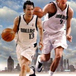 Dallas Mavericks Dirk Nowitzki Steve Nash Runnin' Buddies Sports Poster Print Poster Poster Print, 22X35