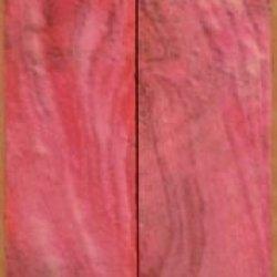 """Buckeye Burl Stabilized Pink (2 Pc) Mini Knife/Razor Scale 3/16""""X1""""X5"""" Nk3"""