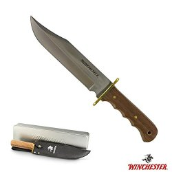 Winchester 31-002453 Traditional Walnut Handle 14-Inch Bowie Knife In Gift Tin