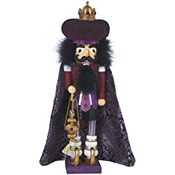 Hollywood Nutcrackers Kurt Adler Hollywood King Nutcracker, 18-Inch, Purple