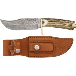 Colt Knife .45 Bowie Damascus Steel Stag Handle