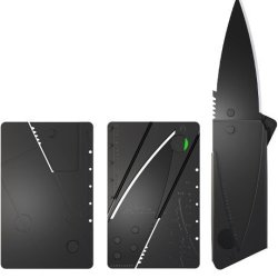 Cardsharp 2 Credit Card Sized Folding Knife (Black Blade)