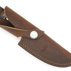 Buck 191 192 691 692 Vanguard Zipper Limited Edition Custom Brown Distressed Leather Knife Sheath
