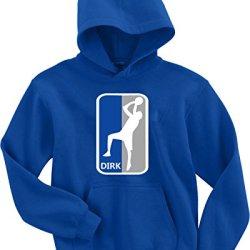 "Dirk Nowitzki Dallas Mavericks ""Nba Logo"" Hooded Sweatshirt Adult Medium"