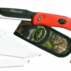 Outdoor Edge Rb-20 Razor Blaze Knife With 6-Blades, Orange