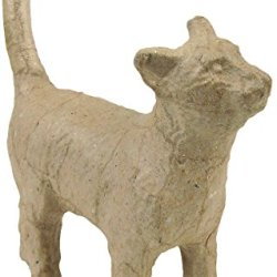 """Paper Mache Figurine 4.5""""-Cat *** Product Description: Paper Mache Figurine 4.5""""-Catdecopatch-Paper Mache Figurine. This Figure Is Fun For Decoration And Play. It Can Be Painted And Decorated How You Want To. This Package Contains One 4-1/2 Inch ***"""