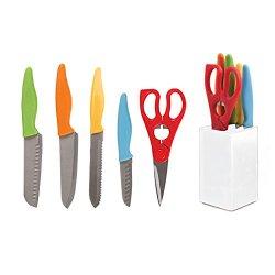 Gibson Colorsplash Primary Basics 6 Pc Preparation Cutlery Set