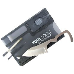 "Tool Logic Survival Card Knife With Fire Starter & Light ""Product Category: Hand Tools & Accessories/Knives"""