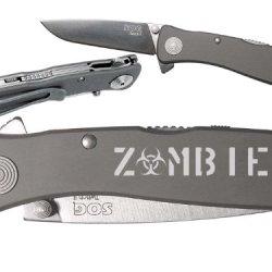 Zombie Biohazard Text Custom Engraved Sog Twitch Ii Twi-8 Assisted Folding Pocket Knife By Ndz Performance