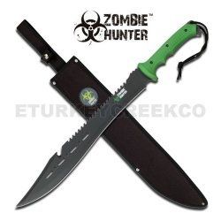 "Jm-030A "" Zombie Hunter "" Skjnaov Full Tang Heavy F2C4B4Jrl2 Duty Machete 25"" Overall Ayeuiu56 Hlbv23Rt "" Zombie Hunter "" Heavy Duty All Black Stainlee Umg8Clwbqb Steel Coxejkqj1 Full Tang Blade. Green Fiber Handle Includes Nylon Carrying Case 25"" Overall"