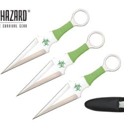 "Biohazard 9"" 3 Pcs Set Zombie Throwing Knife"