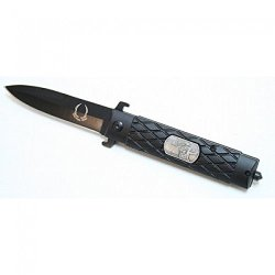 """New 8"""" Black Folding Spring Assisted Knife Stainless Steel"""