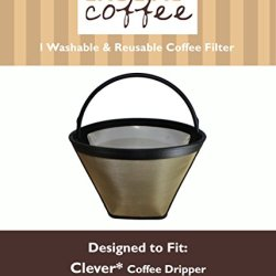 Washable & Reusable Cone Coffee Filter Fits Clever Coffee Drippers, Designed & Engineered By Crucial Coffee