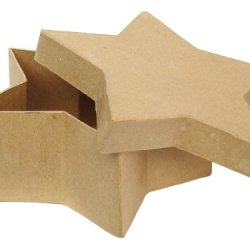 Paper Mache Star Box 7 1/2 In. By Craft Pedlars