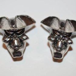 Patriot Pirate Skull Paracord Lanyard Bead Twin Pack