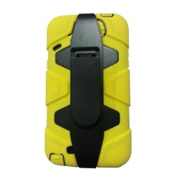 Meaci® Iphone 5C 3 In 1 Yellow Defender Body Armor With Tpu Clip Against Shocks Hard Case