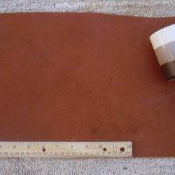 """Scrap Lace Leather Medium Brown Cowhide 10"""" X 18"""" Piece #L303"""
