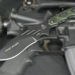 Tops Knives Green Badger Knife Model Gnbr-01