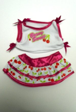 "Berry Sweet Outfit Clothing Fits 8""-10"" Most Webkinz, Shining Star and 8""-10"" Make Your Own Stuffed Animals and Build-a-bear"