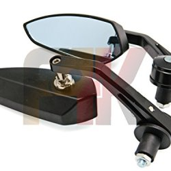 "2 X Custom Universal Black Blade Spear Knife Style 7/8"" Handlebars Bar End Mirrors For Custom Motorcycle Cruiser Chopper Bobber Cafe Racer Clubman Buell Triumph Speed Street Triple Aprilia Shiver 750 Moto Guzzi"