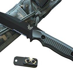 Benchmade 141Sbk-Adc Nimravus Fixed Blade Knife W/ Free Benchmade Knife Sharpener