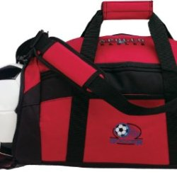 "Removable Strap Adjustable Duffle Bags, Red, 20.75""W X 10.75""H X 9.5""D"