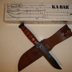 Ka-Bar Military Fighting Knife Plain Edge Olean N.Y.