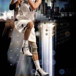 "Dirk Nowitzki ""The Ultimate Flying Machine"" Dallas Mavericks 34X22.5 Sports Art Print Poster"