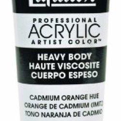 Liquitex Professional Heavy Body Acrylic Paint 2-Oz Tube, Cadmium Orange Hue