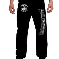 Kicking You Know What Since! Marine Corps Sweatpants Usmc Lounge Pants Black, Large