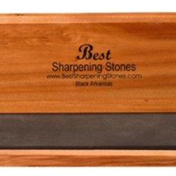 "Arkansas Knife Sharpening Stone - Black Surgical 6""X2""X1/2"""