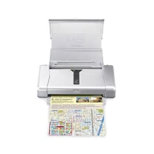 Canon PIXMA iP100 Mobile Photo Printer It's portable, compact and gets the job done when we need to print something out (which we try to avoid whenever possible). It even does a reasonable job printing photos – even borderless 8×10′s!