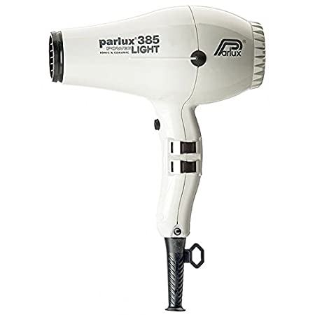 Parlux 385 Powerlight Ionic & Ceramic Hair Blow Dryer is a very powerful and lightweight dryer with two speeds and two temperature settings. Includes two unbreakable nozzles. Available in Black.
