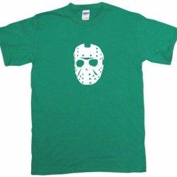 Jason Mask Logo Kids Tee Shirt 5/6T-Green