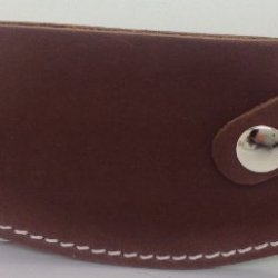 Genuine Leather Ulu Knife Quality Sheath Dark Color - For Inupiat Knife
