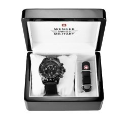 Wenger 66182 Set - Wenger 79264 Men'S Special Edition Zurich Carbon Fiber Dial Chronograph Watch And Swiss Army Knife Set