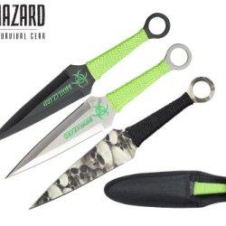 9 Inch 3Pcs Set Zombie Throwing Knife Biohazard A8011-3-Astd