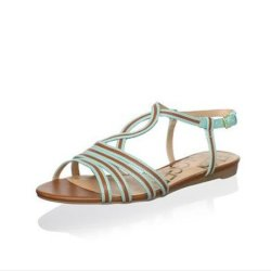 Kelsi Dagger Women'S Ferida Strappy Sandal Size 9.5 (Luggage/Mint)