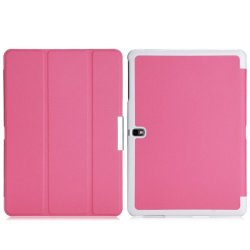 Wawo Samsung Galaxy Tab Pro 10.1 Inch Tablet Smart Cover Fold Case - Pink