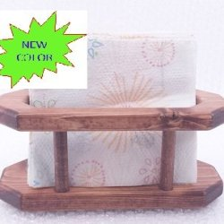 1Pc Table Caddy Red Chestnut (Stained Pine Wood) - Napkins Holder