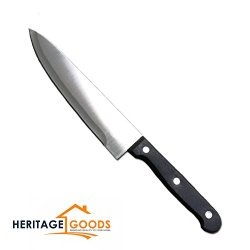 """Chefs Stainless Steel Knife 7.5 Inch German Style Blade With Free E-Book Titled,""""Culinary Delights"""" - General Utility Kitchen Knives By Heritage Goods"""