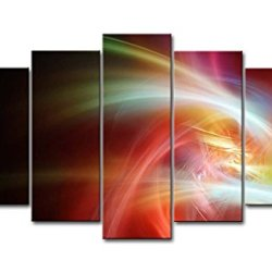 5 Piece Wall Art Painting Colourful Curves Pictures Prints On Canvas Abstract The Picture Decor Oil For Home Modern Decoration Print For Decor Gifts