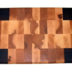 End Grain Chopping Block With Michigan Stamp
